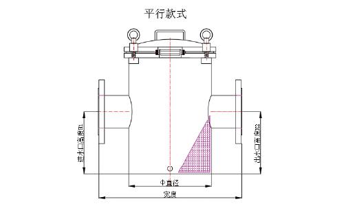 不锈钢毛发收集器平行款式产品线图.jpg